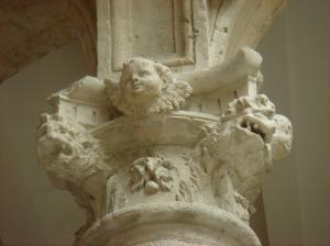 Detalle de capitel en el Palacio de los Dueñas, en Medina del Campo (Valladolid)